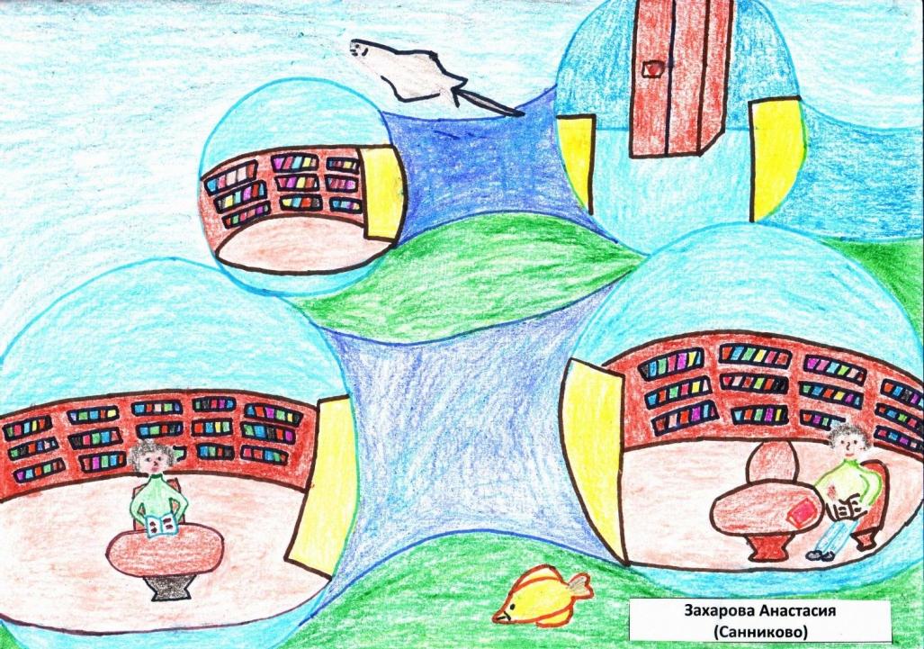 Картинки библиотека будущего рисунки